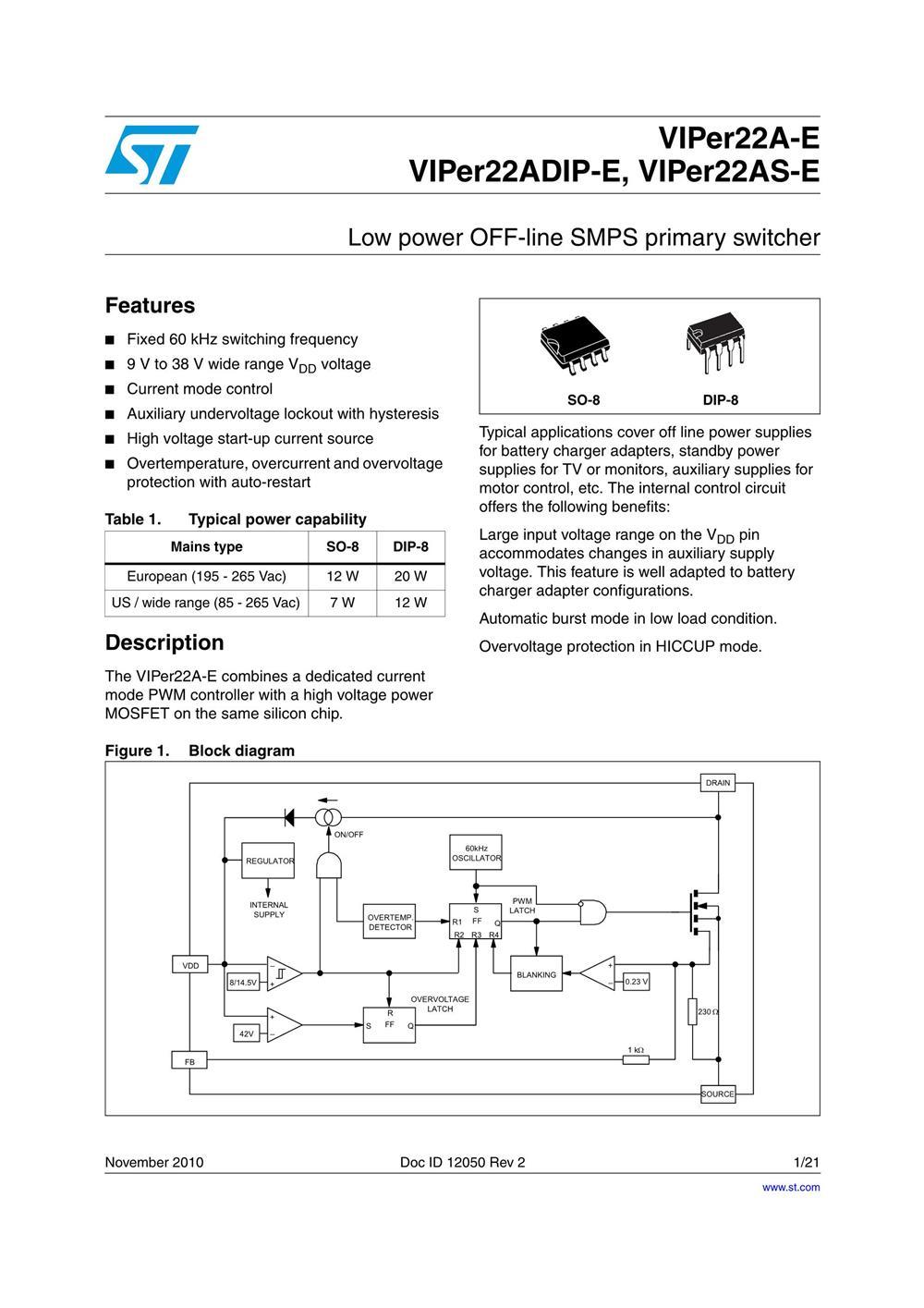 VIPER22ADIP-E's pdf picture 1