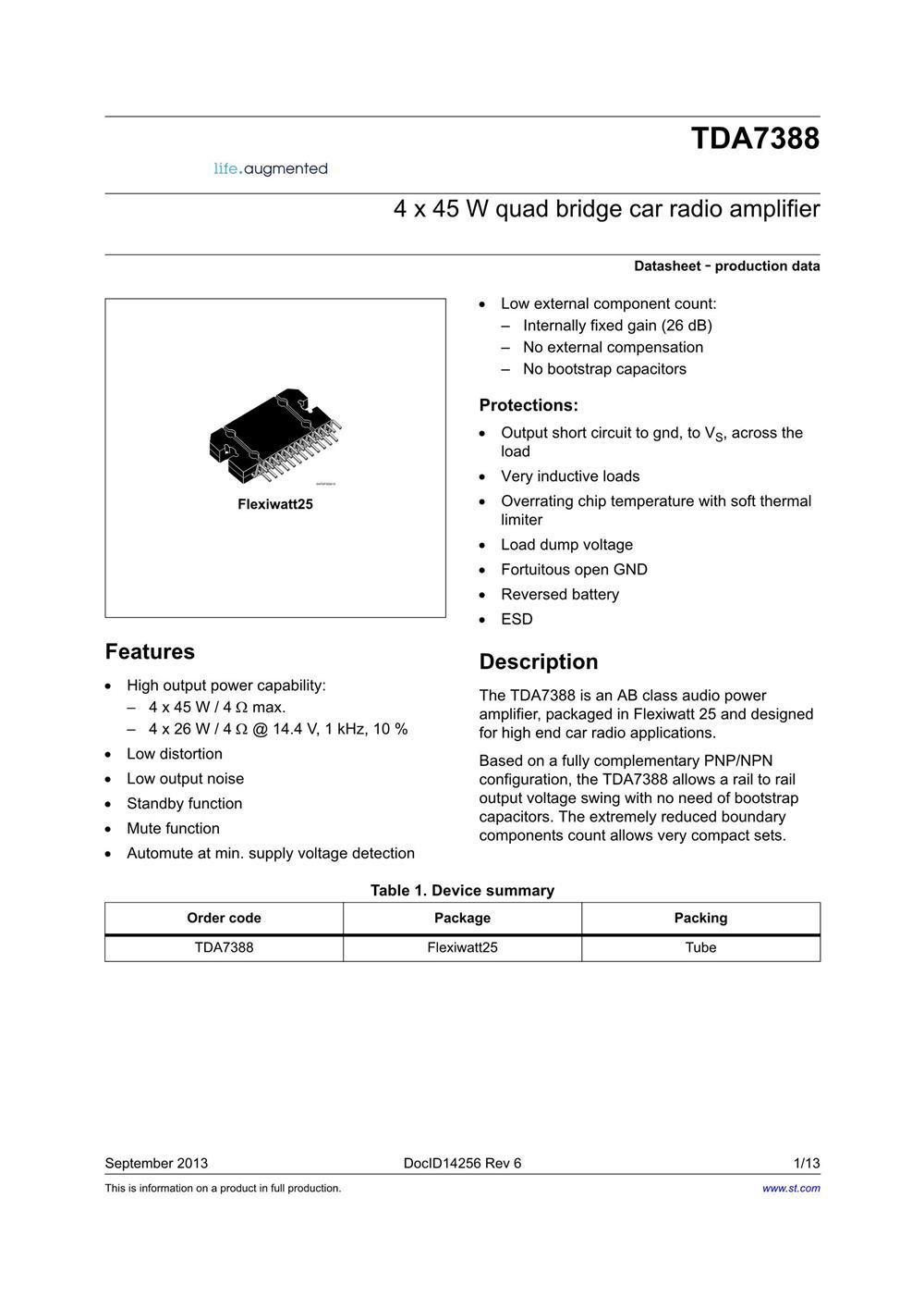 TDA7388's pdf picture 1
