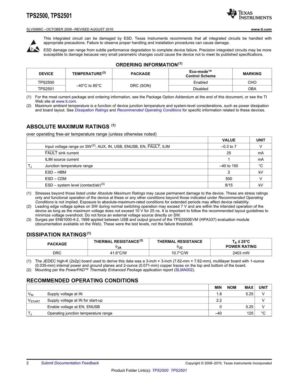 TPS2501DRCR's pdf picture 2