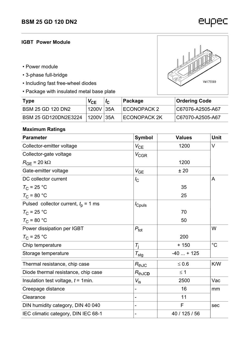 BSM25GD120DN2E3224's pdf picture 1