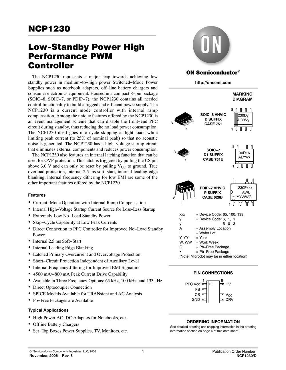 NCP1230D65R2's pdf picture 1