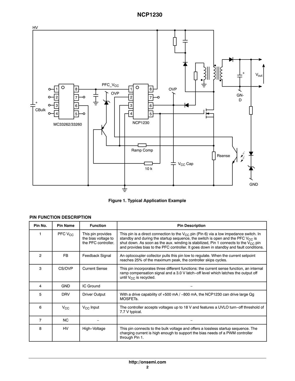 NCP1230D65R2's pdf picture 2