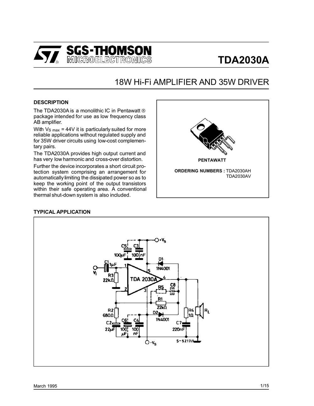 TDA2030A's pdf picture 1