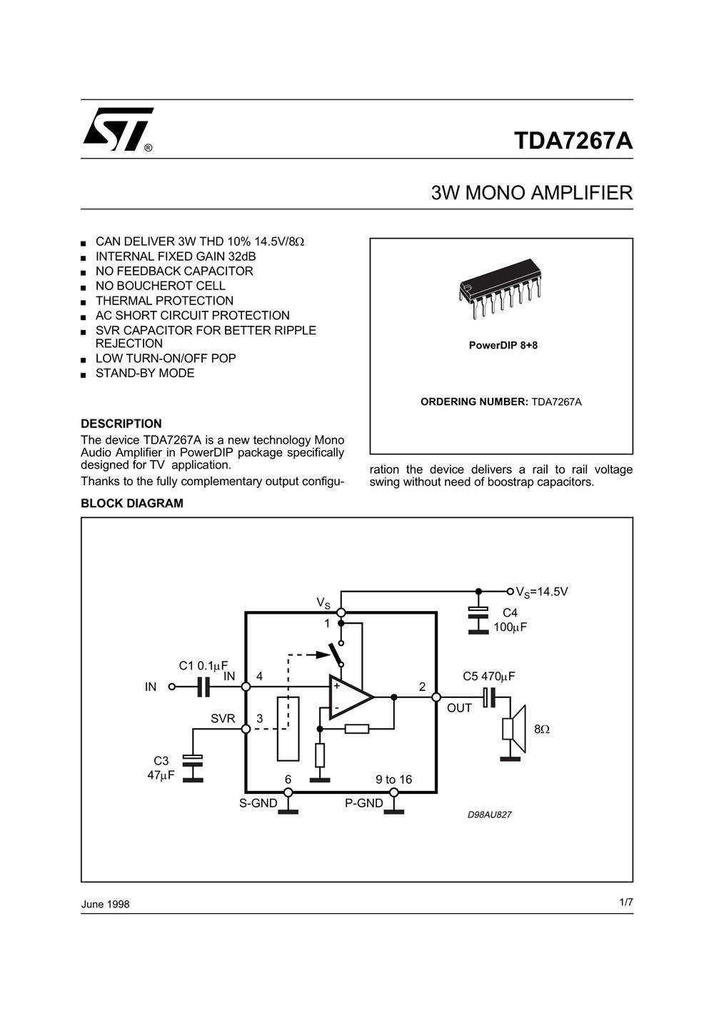 TDA7267A's pdf picture 1