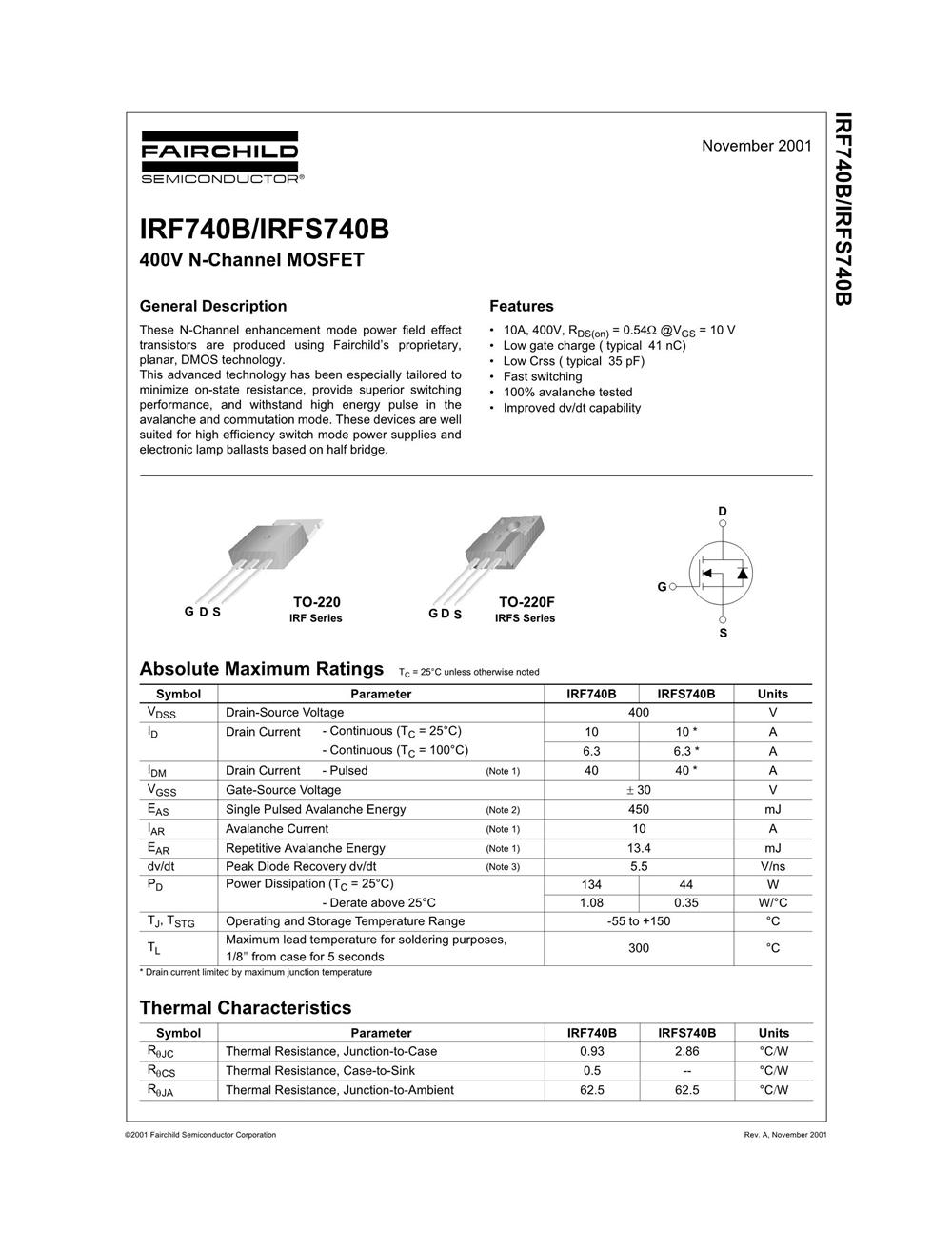 IRF740B's pdf picture 1