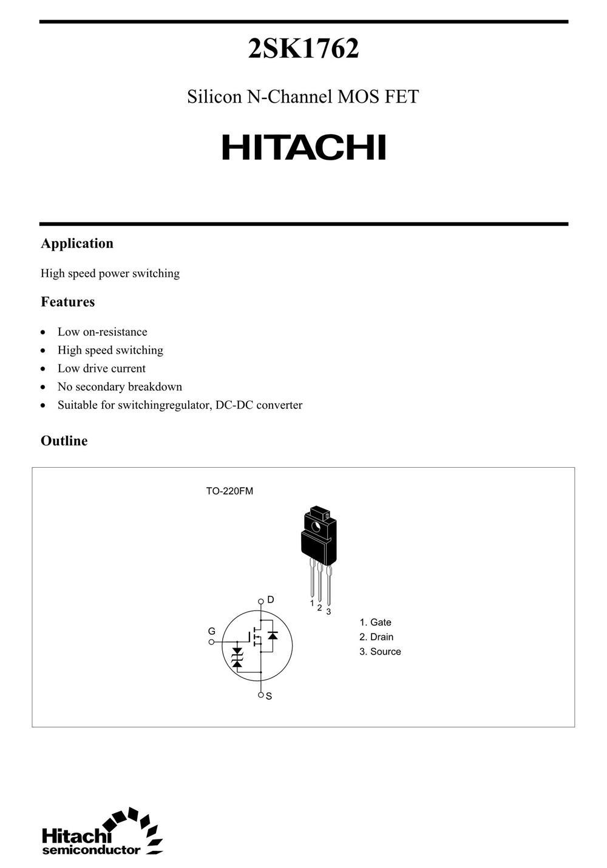 2SK1762's pdf picture 1