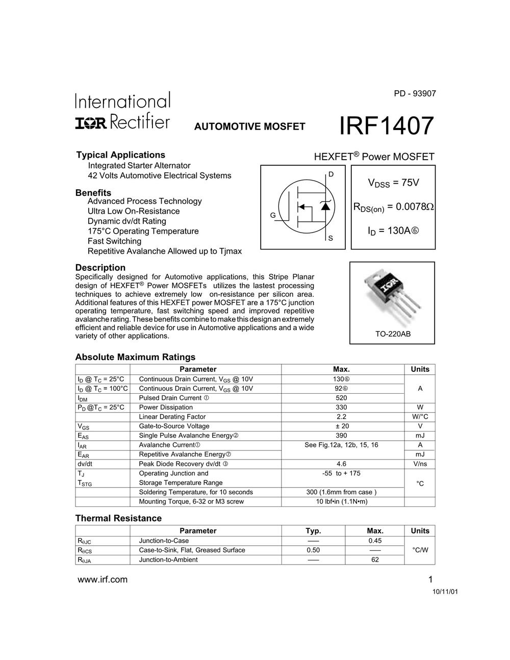 IRF1407's pdf picture 1