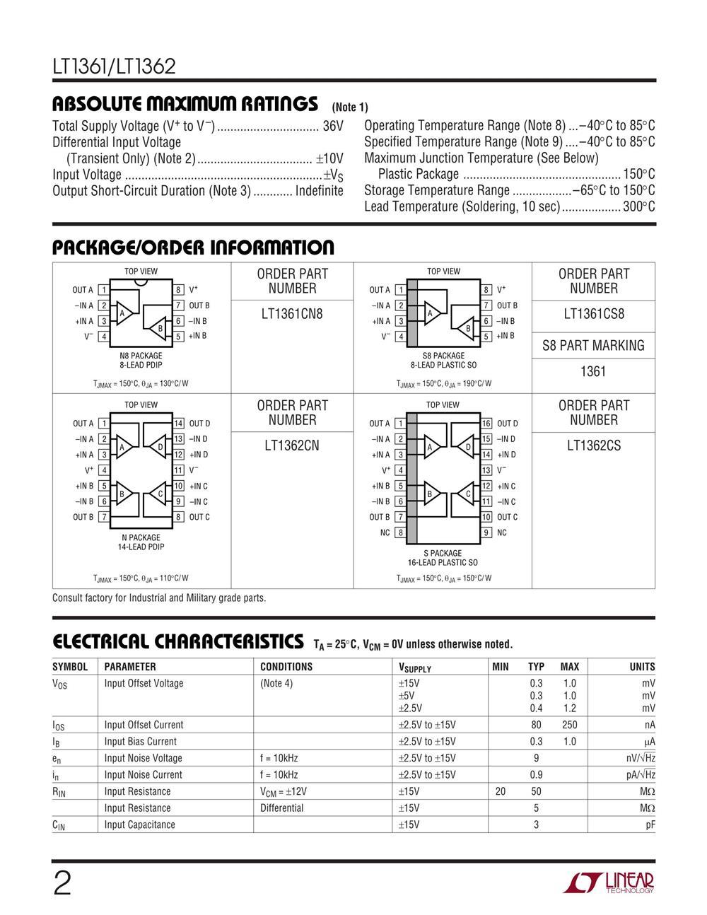 LT1362CS#TRPBF's pdf picture 2