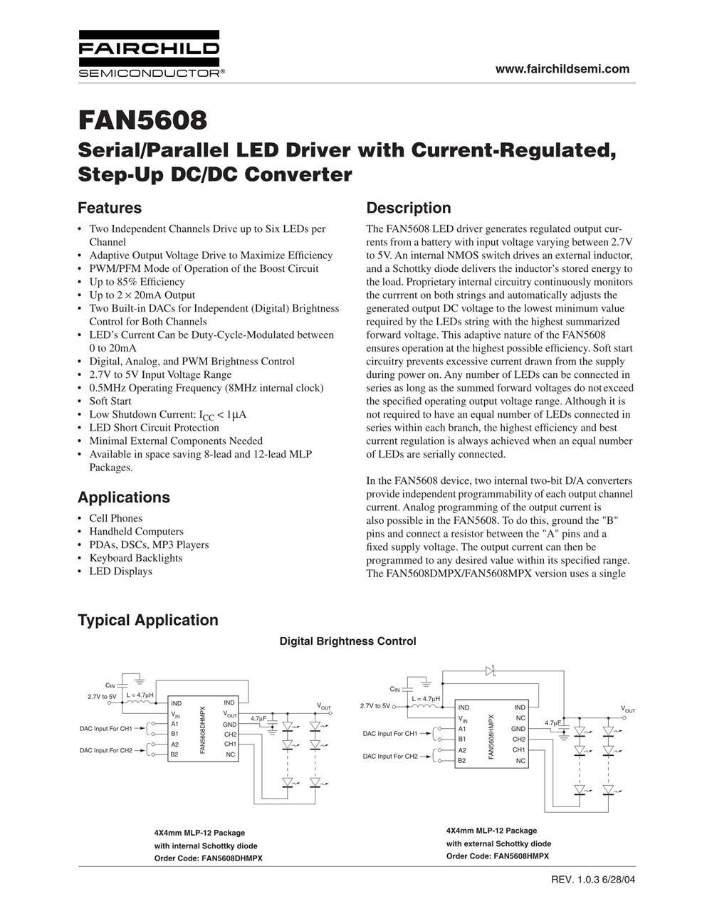 FAN5608HMPX's pdf picture 1
