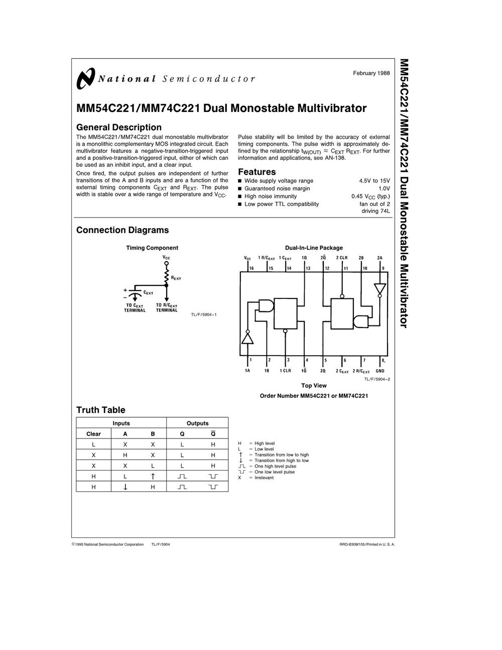 MM74C221N's pdf picture 1
