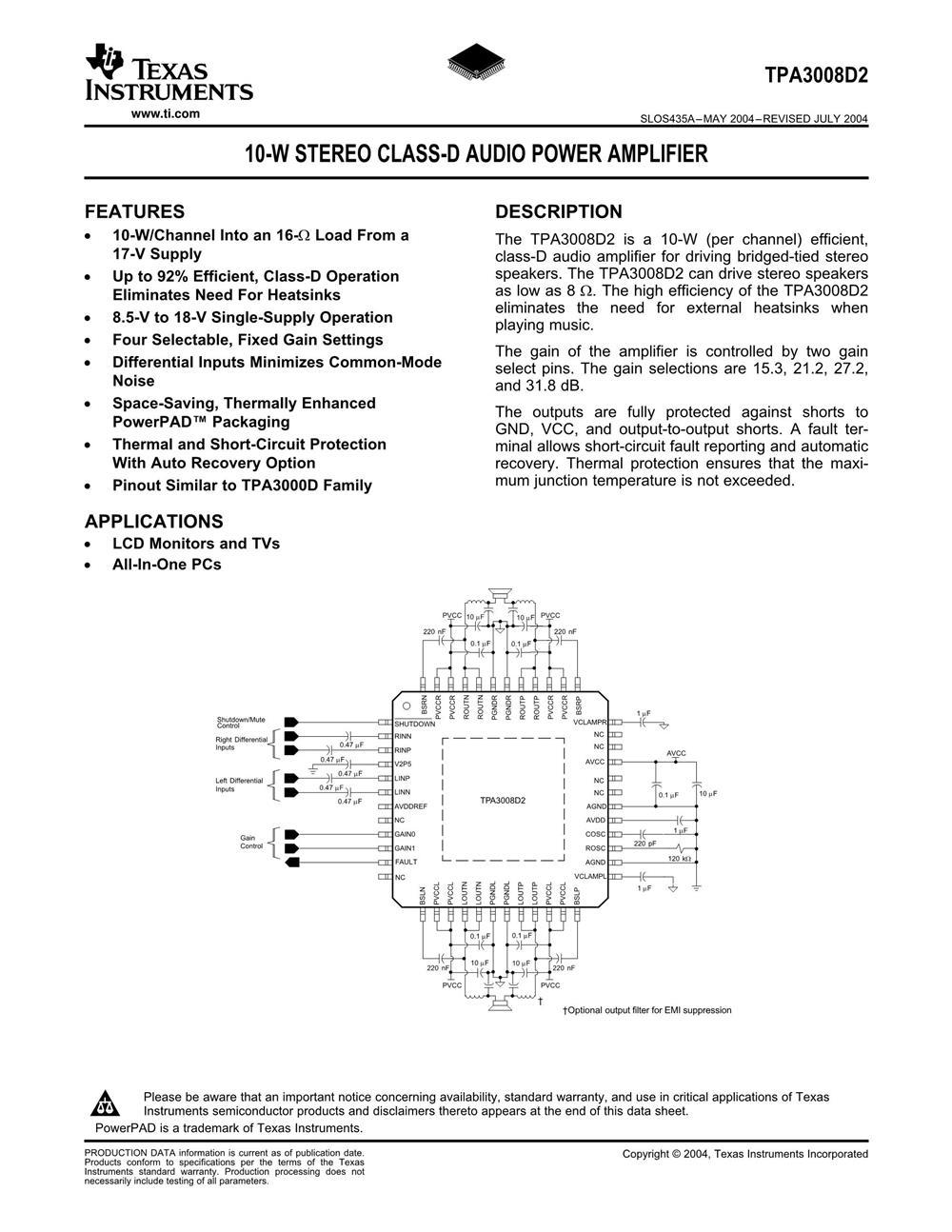 TPA3008D2's pdf picture 1