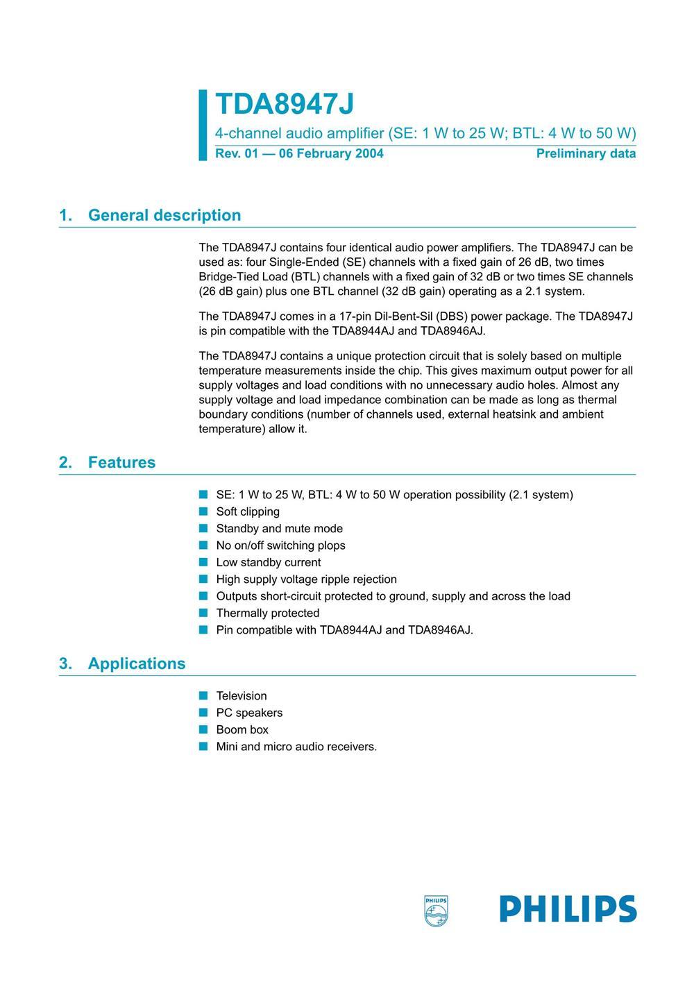 TDA8947J's pdf picture 1