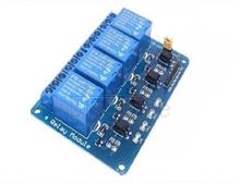 With optical coupling isolation 4-way relay board panel 5 v relay output module microcontroller extension