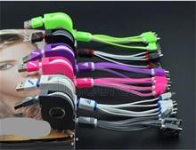Scalable four one bull multi-function data line Yituo four charger line phone line 4 and 1 green color