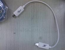 Double micro usb male lines to let public mutual kao otg android mobile phone charge each spring cable reverse charge Mobile interconnection charge/to kao have OTG function