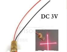 9 mm Red Cross line laser lamp holder semiconductor laser pipe die set 3 v DC infrared positioning components