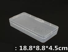 Pp transparent plastic rectangular storage empty box covered parts parts finishing small boxes jewelry cosmetic boxes
