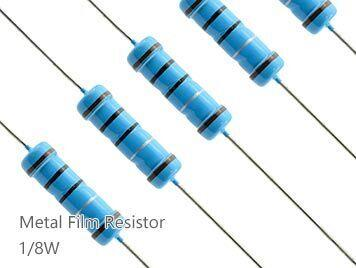 (100pcs) DIP Metal Film Resistor 1% 1/8W 1.8Ω(1.8R)