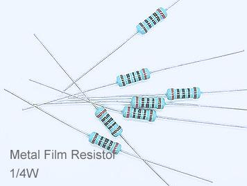 (20pcs) DIP Metal Film Resistor 1% 1/4W 240Ω(240R)