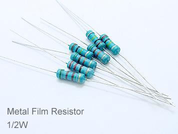 1/2W Metal Film Resistor Pack,127 Kinds,Each 10pcs,Total 1270pcs,Sample Book.