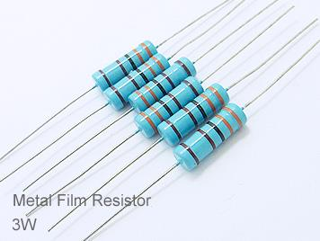 (20pcs) DIP Metal Film Resistor 1% 3W 0.62Ω(0.62R)