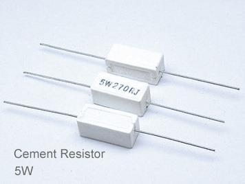 (5pcs) DIP Ceramic Resistor 5% 5W 5Ω(5R)