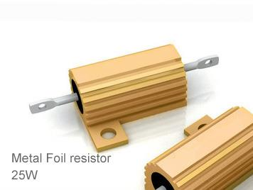 (5pcs) DIP Aluminium Clad Power Resistor 5% 25W 1Ω(1R)