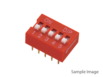 DIP Switch Red 10 Position 10P Terminal Pitch 2.54mm (10pcs)