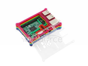 Raspberry Pi 3 Model B with Rainbow Case