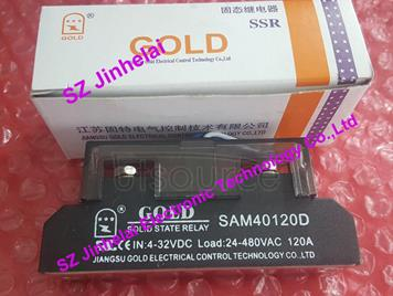 New and original  SAM40120D  GOLD Single-phase industrial solid state relay 4-32VDC, 24-480VAC 120A
