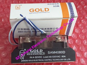 New and original  SAM4080D  GOLD  Single-phase industrial solid state relay   4-32VDC,  48-530VAC    80A
