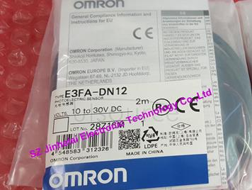 New and original  E3FA-DN12 OMRON  Cylindrical photoelectric switch   2M  10-30VDC