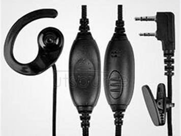 Intercom earphone headset headphones line ears hanging head Y k M head universal hand headphones hotel KTV Stretching resistance good sound quality Wear comfortable