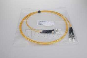 2m (7ft) ST APC to ST APC Duplex 2.0mm PVC(OFNR) 9/125 Single Mode Fiber Patch Cable