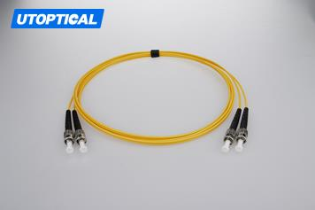 5m (16ft) ST UPC to ST UPC Duplex 2.0mm PVC(OFNR) 9/125 Single Mode Fiber Patch Cable