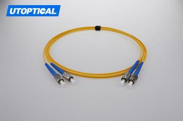 3m (10ft) FC APC to FC APC Duplex 2.0mm PVC(OFNR) 9/125 Single Mode Fiber Patch Cable