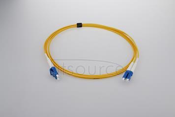 2m (7ft) LC UPC to LC UPC Duplex 2.0mm PVC(OFNR) 9/125 Single Mode Fiber Patch Cable