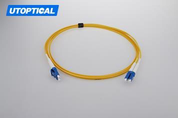 2m (7ft) LC APC to LC APC Duplex 2.0mm PVC(OFNR) 9/125 Single Mode Fiber Patch Cable