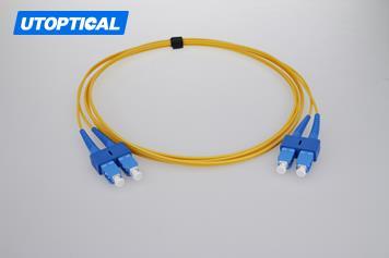 15m (49ft) SC APC to SC APC Simplex 2.0mm PVC(OFNR) 9/125 Single Mode Fiber Patch Cable