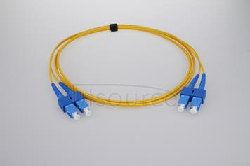 5m (16ft) SC APC to SC APC Simplex 2.0mm PVC(OFNR) 9/125 Single Mode Fiber Patch Cable