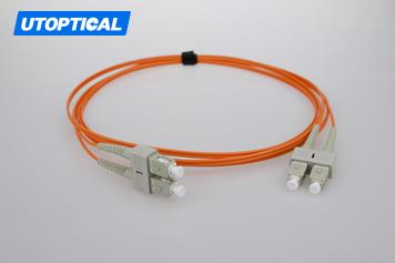 2m (7ft) SC UPC to SC UPC Duplex 2.0mm LSZH OM2 Multimode Fiber Optic Patch Cable