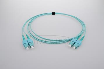 2m (7ft) SC UPC to SC UPC Duplex 2.0mm PVC(OFNR) OM4 Multimode Fiber Optic Patch Cable