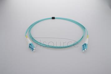 2m (7ft) LC UPC to LC UPC Duplex 2.0mm PVC(OFNR) OM4 Multimode Fiber Optic Patch Cable