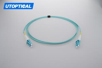 10m (33ft) LC UPC to LC UPC Duplex 2.0mm PVC(OFNR) OM4 Multimode Fiber Optic Patch Cable