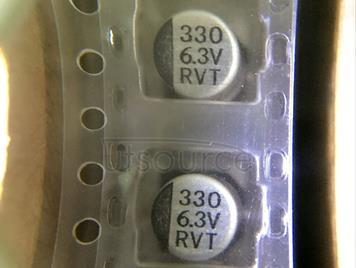 Aluminum electrolytic capacitor   330UF  6.3V  6.3*7.7