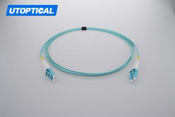 3m (10ft) LC UPC to LC UPC Duplex 2.0mm PVC(OFNR) OM4 Multimode Fiber Optic Patch Cable