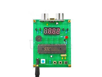DIY Kit Ultrasonic Rangefinder Collision Avoidance System Based on 51 Microcontroller