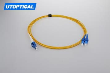 15m (49ft) LC UPC to SC UPC Simplex 2.0mm PVC(OFNR) 9/125 Single Mode Fiber Patch Cable