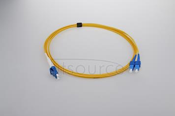 8m (26ft) LC UPC to SC UPC Simplex 2.0mm PVC(OFNR) 9/125 Single Mode Fiber Patch Cable