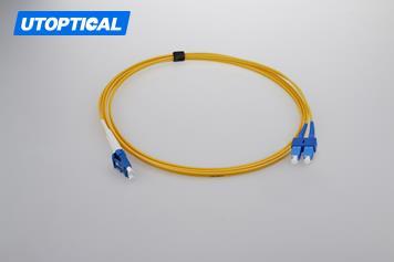 2m (7ft) LC APC to SC APC Simplex 2.0mm PVC(OFNR) 9/125 Single Mode Fiber Patch Cable